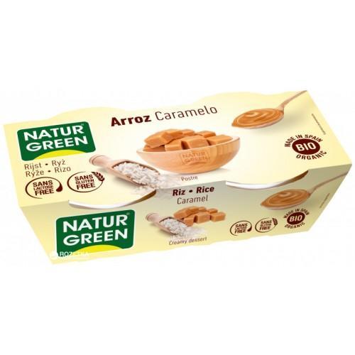 Десерт з рису з карамеллю Natur Green 125г*2