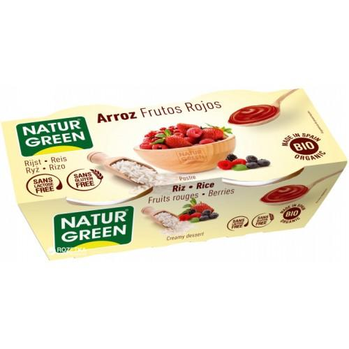 Десерт із рису з фруктами  Natur Green 125г*2
