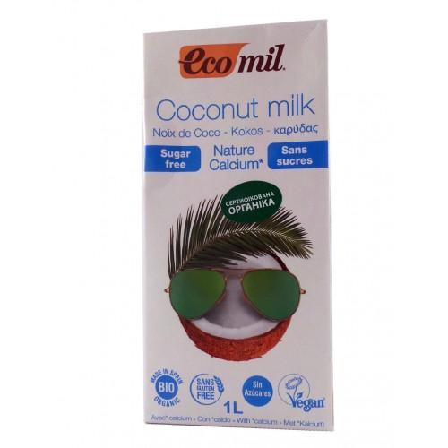 Органическое молоко из кокоса с кальцием Ecomil 1 л