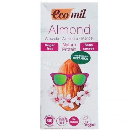 Органическое молоко из миндаля без сахара Ecomil 1л