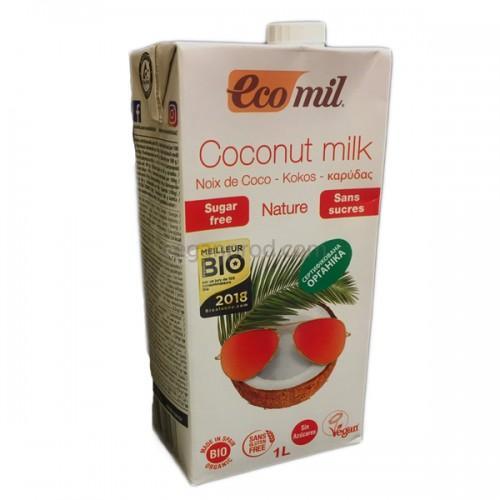 Органическое молоко из кокоса без сахара Ecomil 1л