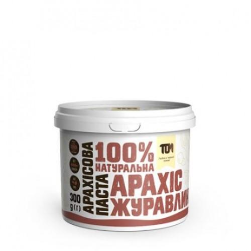 Арахісова паста з журавлиною ТОМ 300г пластик