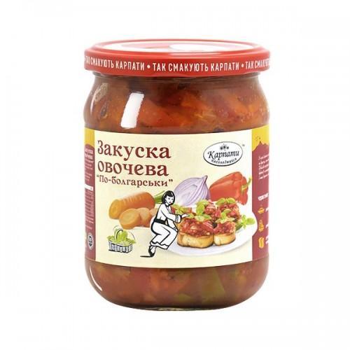 Закуска овочева по-болгарськи ТМ Карпати 480г
