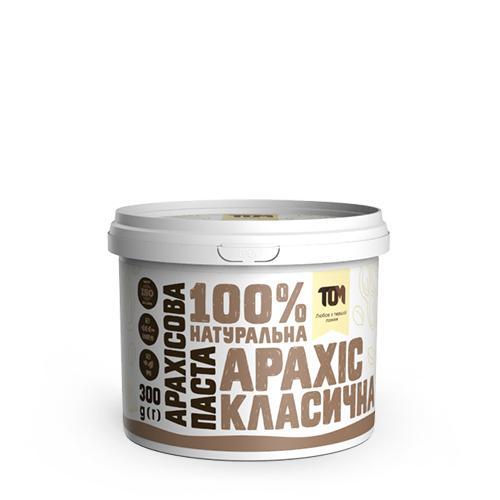 Арахисовая паста классическая ТОМ 300г пластик
