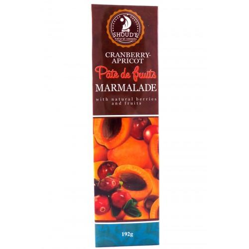 Мармелад Pate de fruits  Cherry Cranberry-apricot  Журавлина-абрикос Shoud`e 192г
