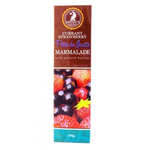 Мармелад Pate de fruits Currunt-strawberry Смородина-полуниця Shoud`e 192г