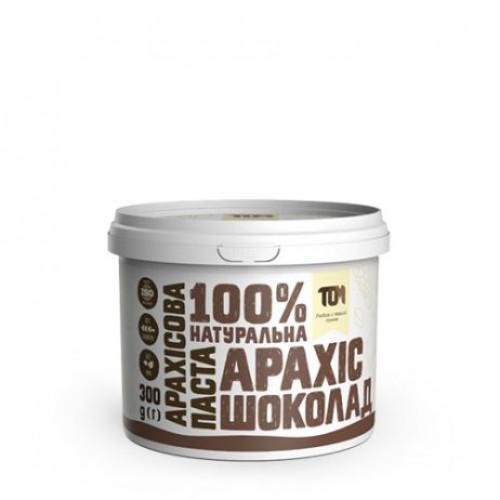 Арахісова паста з шоколадом ТОМ 300г пластик