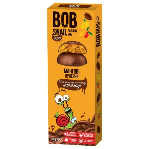 Конфеты Манговые в бельгийском молочном шоколаде Bob Snail - Равлик Боб 30г