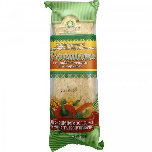 Хлебцы Росток Из пророщенного зерна пшеницы со сладким перцем и морковью УкрЕкоХліб 80г