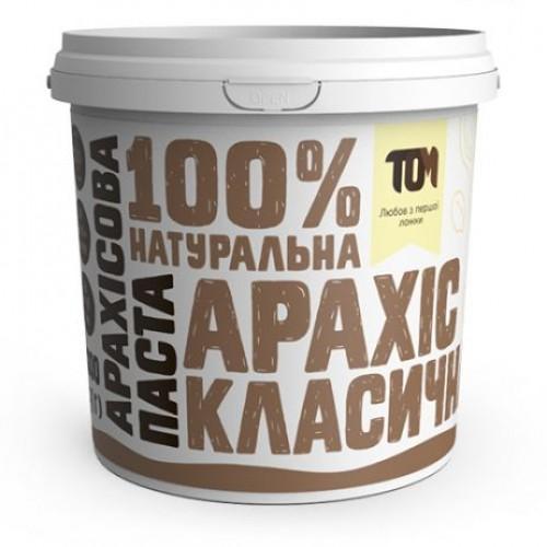 Арахисовая паста классическая ТОМ 1кг пластик
