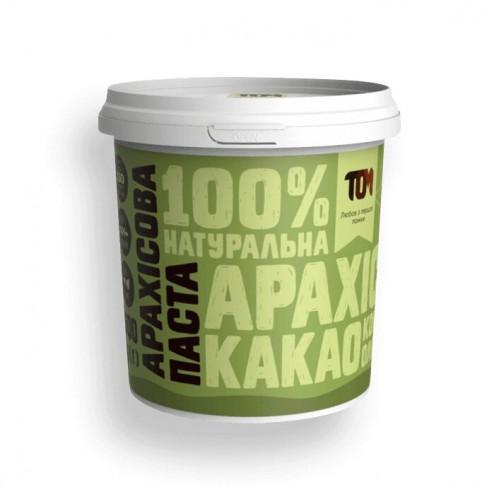 Арахісова паста з какао, медом та кокосовою олією ТОМ 500г пластик