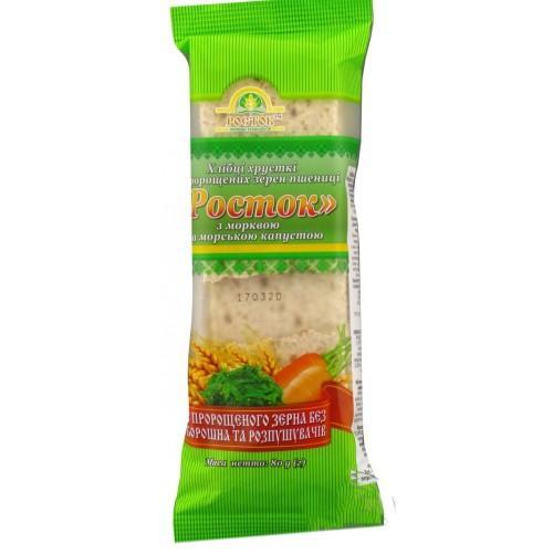 Хлебцы Росток Из пророщенного зерна пшеницы с  морковью и морской капустой УкрЕкоХліб 80г
