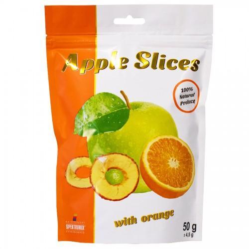 Натуральні жувальні цукерки Ломтики яблучні сушені з апельсином Spektrumix 100г