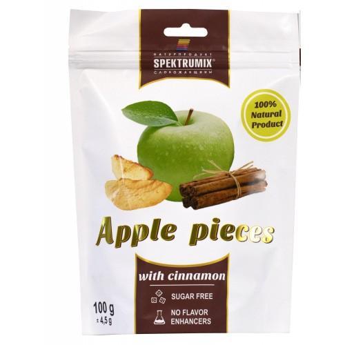 Натуральные конфеты жевательные Ломтики яблочные сушеные с корицей Spektrumix 100г