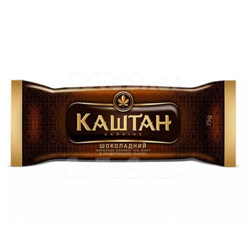 Пломбір у кондитерській глазурі Каштан Шоколадний Хладик 75г