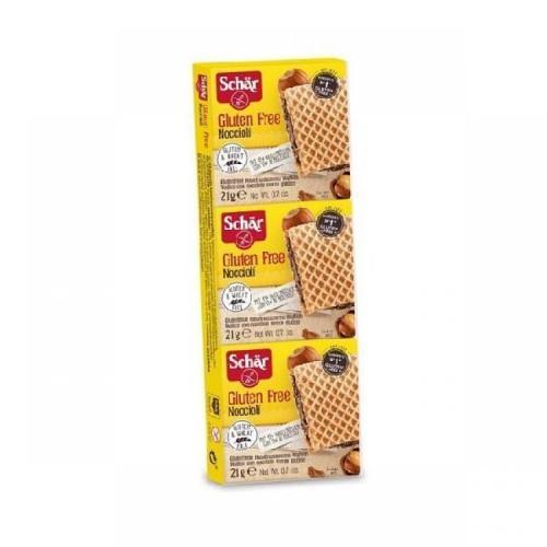 Вафли с кремом и з лесных орехов Noccioli Schar 3х21г