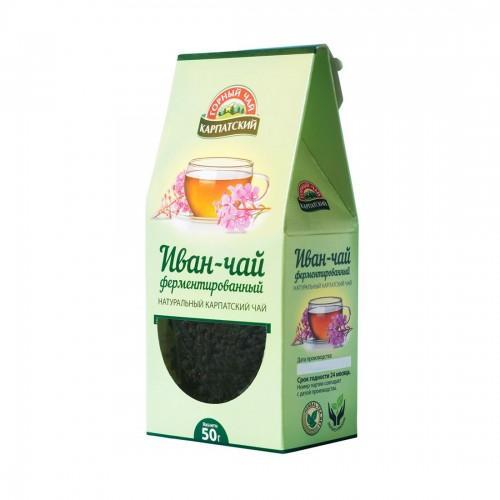 Натуральний карпатський чай Іван-чай ферментований  Гірський чай Карпатський 50г