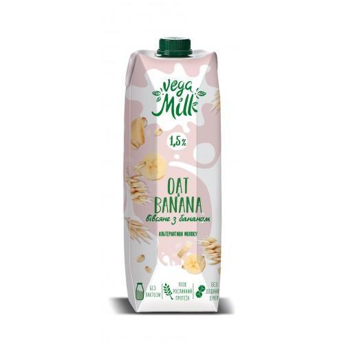 Напій вівсяний з бананом 1,5% Vega Milk 950мл