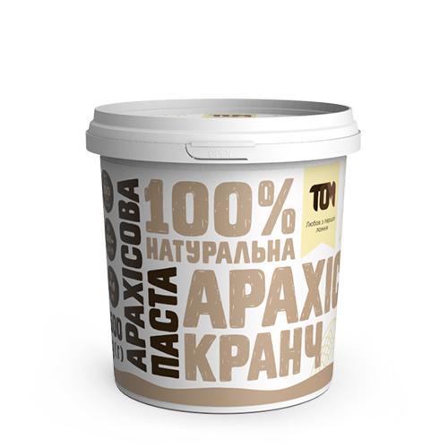 Арахісова паста кранч ТОМ 500г пластик
