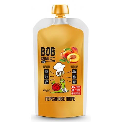 Пюре фруктове пастеризоване Персик Bob Snail - Равлик Боб 400г