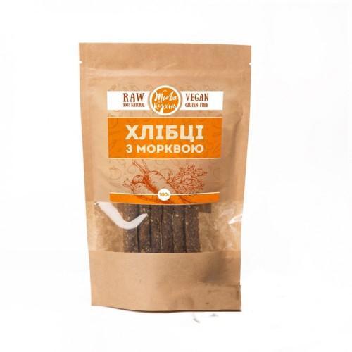 Хлібці лляні з морквою  Жива кухня 100г