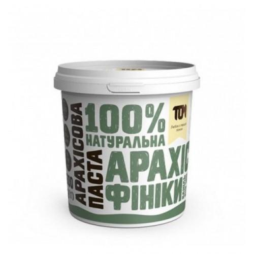 Арахісова паста з фініками, ваніллю та кокосовою олією ТОМ 500г пластик