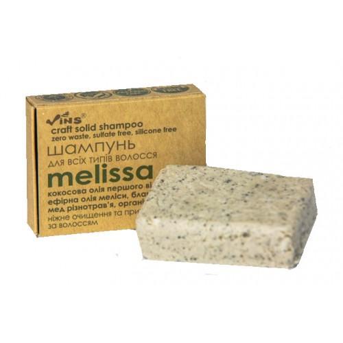 Шампунь твердый крафтовый Melissa для всех типов волос TM Vins 85г