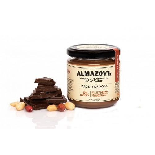 Паста ореховая Арахис с молочным шоколадом Almazovъ 200г