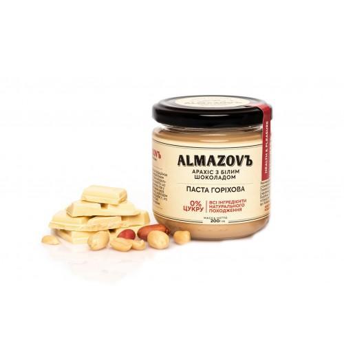 Паста ореховая Арахис с белым шоколадом Almazovъ 200г