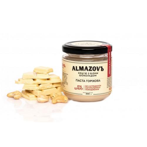 Паста горіхова Кеш'ю з білим шоколадом Almazovъ 200г