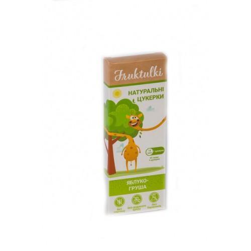Натуральні цукерки Яблуко-груша Fruktulki 40г