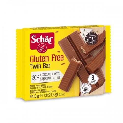 Вафельный батончик в молочном шоколаде Twin Bar Schar 65г