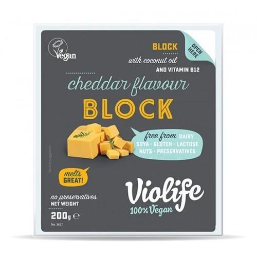 Сир рослинний Cheddar брусок Violife 200г