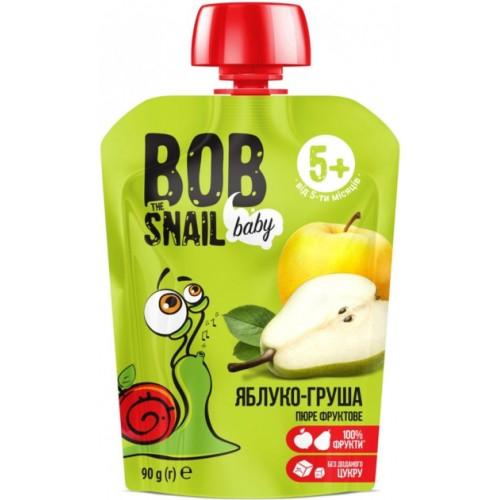 Пюре фруктове Яблуко-груша для дітей Bob Snail - Равлик Боб  пауч 90г
