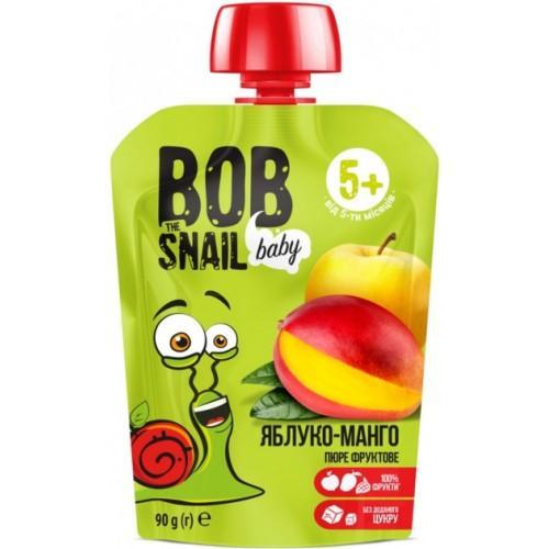 Пюре фруктове Яблуко-манго для дітей Bob Snail - Равлик Боб  пауч 90г