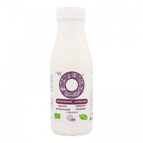 Йогурт органічний безлактозний Органік Мілк 2,5 % 300г