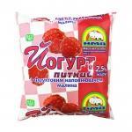 Йогурт питний нежирний з фруктовим наповнювачем Малина 2,5% АМА 450г
