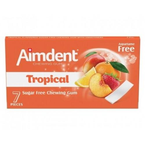 Жувальна гумка Tropical (тропічні фрукти) Aimdent 7шт.