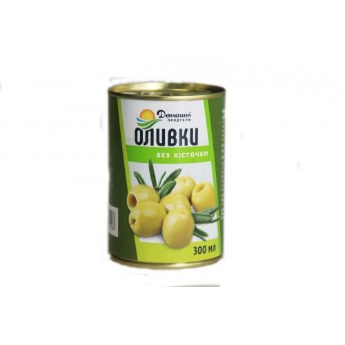 Оливки зелені без кісточки консервовані Домашні продукти 280г