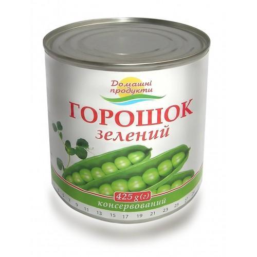 Горошок зелений консервований Домашні продукти 425г