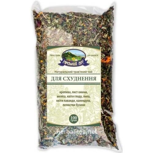 Натуральный травяной чай Для похудения Гірський луг 100г
