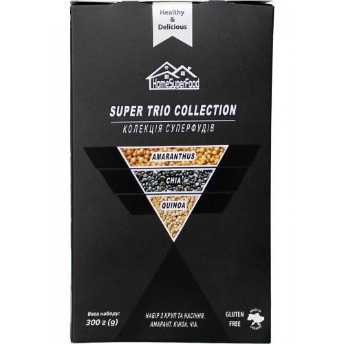 Набір з круп та насіння Колекція суперфудів (амарант, кіноа, чіа)  Healthy Generation  3*100г