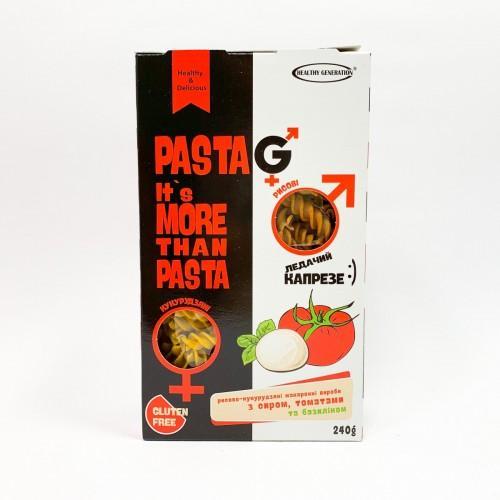 Макароны рисово-кукурузные с сыром, помидорами и базиліком Healthy Generation 240г