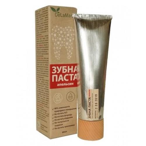 Зубная паста для ежедневного использования Апельсин DeLaMark 80мл