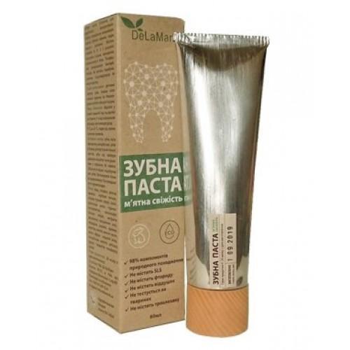 Зубная паста для ежедневного использования Мятная свежесть DeLaMark 80мл