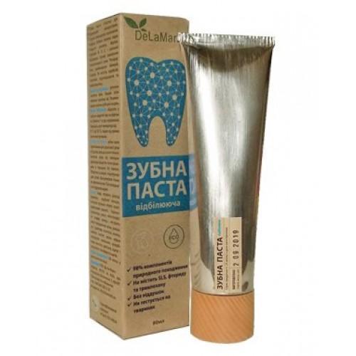 Зубная паста для ежедневного использования Отбеливающая DeLaMark 80мл