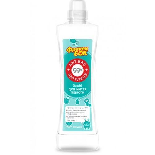Засіб для миття підлоги та поверхонь Antibac+Antivirus Фрекен БОК 1л