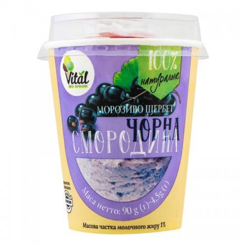 Мороженое-щербет Черная смородина  Vital 90г