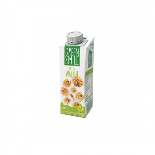 Напій ультрапастеризований рисово-горіховий 2,0% Green Smile 250г