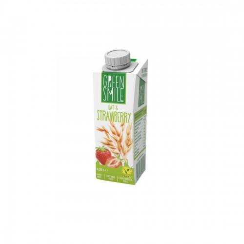 Напій ультрапастеризований вівсяний з полуницею 1,5% Green Smile 250г
